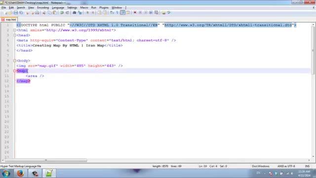 آموزش طراحی سایت با html | ساخت نقشه (map) در html