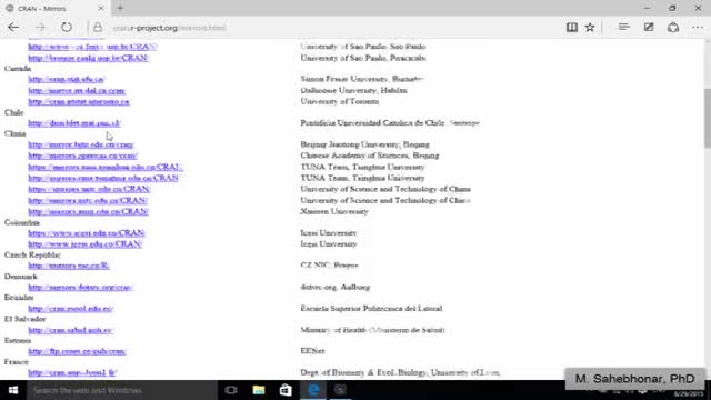 فیلم آموزش نصب نرم افزار R در ویندوز