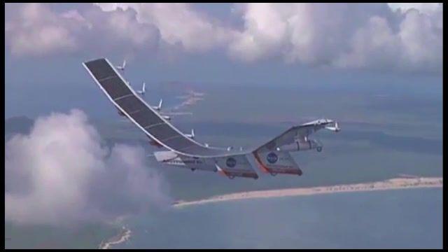 فیلمی از پرواز اولین هواپیمای خورشیدی ناسا
