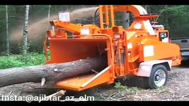 دستگاه شگفت انگیز آسیاب کن الوار و درختان