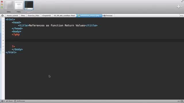113- عملکرد Reference Function Return در پی اچ پی PHP