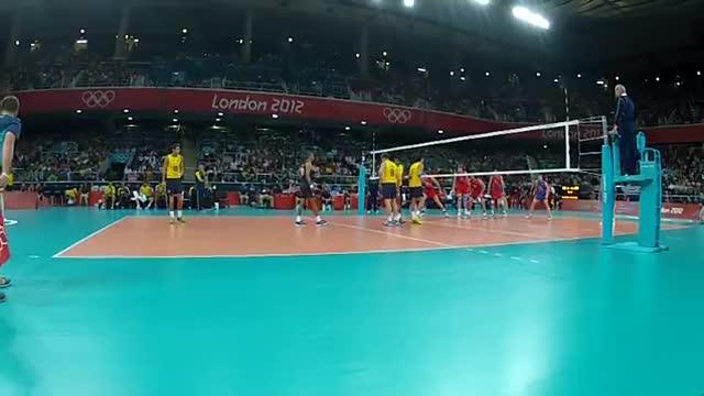 ویدیوی فنی - فینال المپیک 2012 (برزیل - روسیه) - اکشن 8