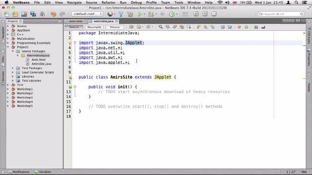 24- ساختن یک اپلت ساده برای شبکه در جاوا Java