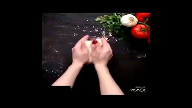 طرز تهیه یک مدل نان مدیترانه ای فوری وخوشمزه  / در یک چشم بر هم زدن نان بپزید !