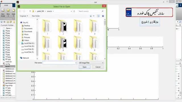 پروژه تشخیص پلاک با شبکه عصبی با MATLAB پایان نامه کامل پردازش تصویر