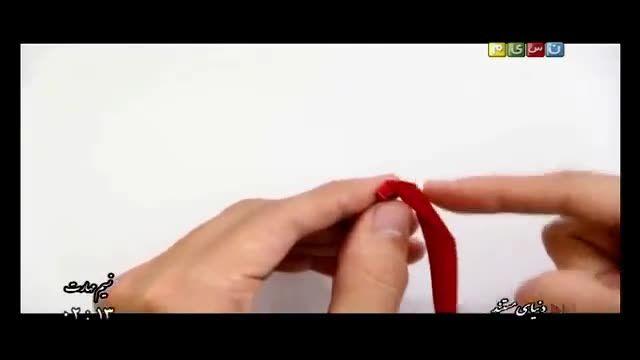 آموزش بسیار آسان ساخت گل رز با  روبان ( بدون نیاز به دوخت )