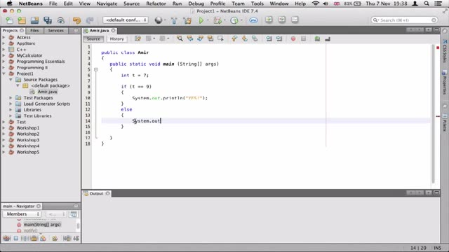 8- توضیح if در جاوا Java
