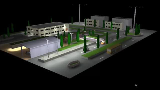 طراحی روشنایی فضای بیرونی ساختمان در نرم افزار DIALux