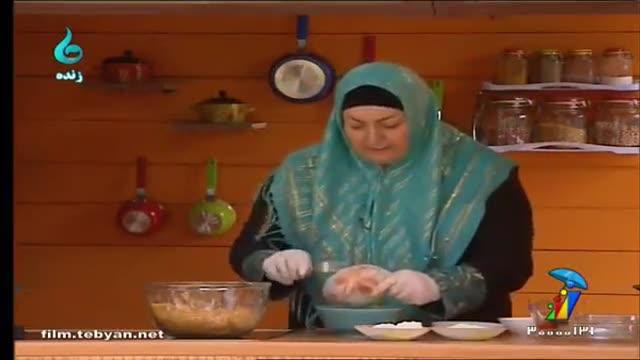 طرز تهیه شیرینی کنافه (گیلکی)