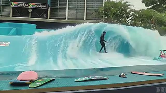موج سواری با استفاده از موج مصنوعی