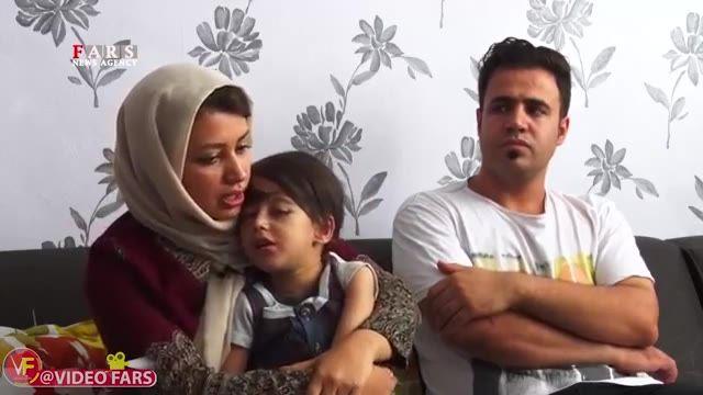 فیلم بیماری ناشناخته و عجیب متین 4 ساله