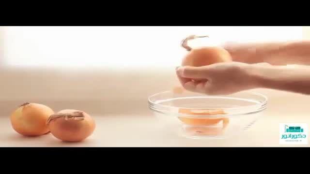 آموزش رنگ کردن تخم مرغ سفره هفت سین با پوست پیاز