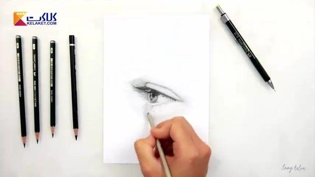 یک فیلم تایم لپس از نقاشی کردن طرحی فوق العاده زیبا از چشم و ابرو با مداد