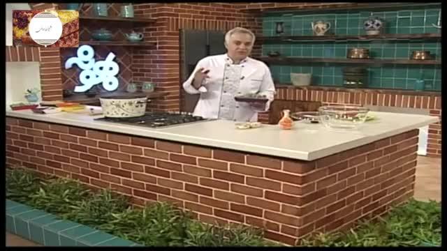 سالاد پاستا با سبزیجات