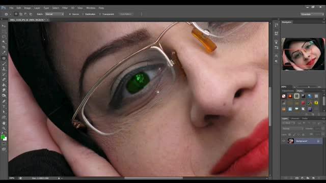 طریقه سایه زدن چشم در فتوشاپ