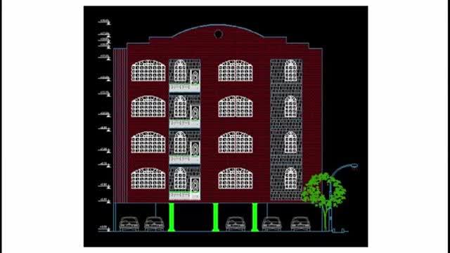 طراحی تاسیسات مکانیکی ساختمان چهار طبقه با اتوکد (پلان آتش نشانی)