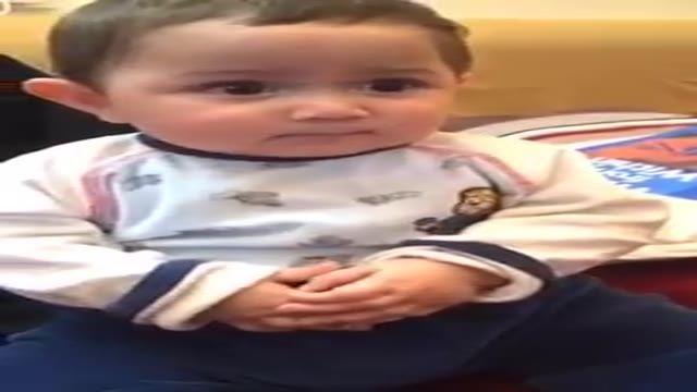 اشکنان دوربین ترساندن طفل معصوم funny nise