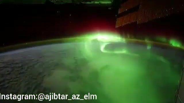 شفق قطبی از دریچه دوربین ایستگاه فضایی