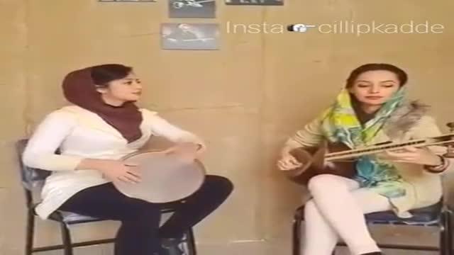 نوازندگی دو دختر هنرمند