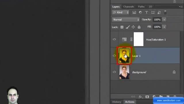 آموزش Photoshop پیشرفته - نقاشی سیاه قلم - سعید طوفانی