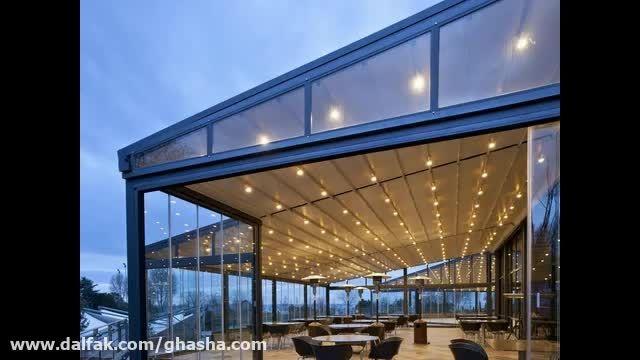سایبا تمام برقی تراس رستوران-سقف تاشو رستوران و کافه-سقف کنترلی روفگاردن