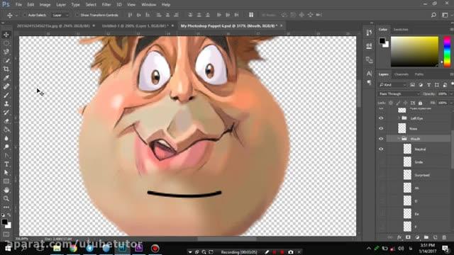 آموزش کاراکتر انیماتور (Adobe Character Animator) - قسمت 4 - اصلاح لایه ها