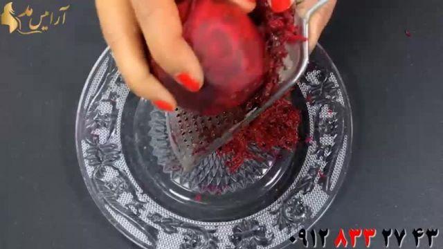 آموزش رنگ مو خانگی با لبو ، عسل و حنا