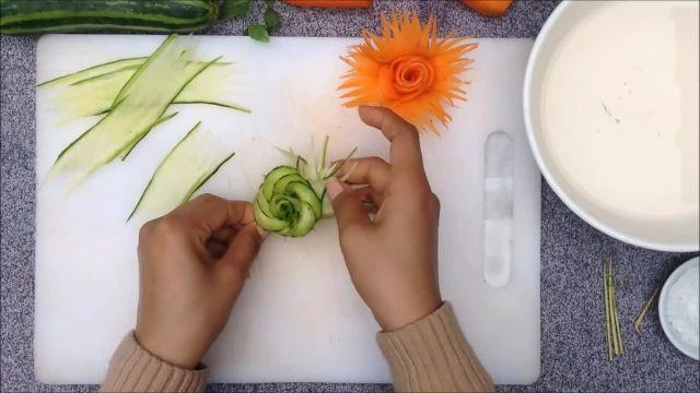 آموزش میوه آرایی سبزیجات برای سالاد