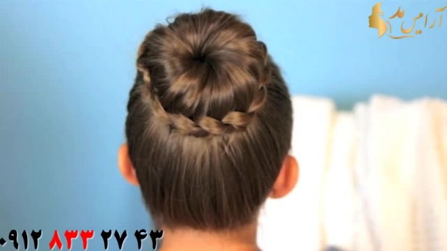 دانلود آموزش شینیون مو با بافت مدل یراقی