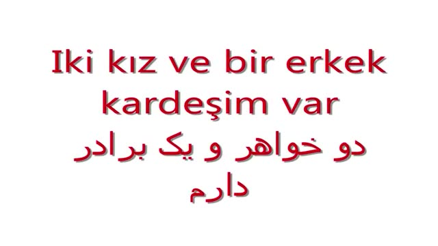 آموزش زبان ترکی استانبولی به روش ساده  - درس صد و سی و نهم