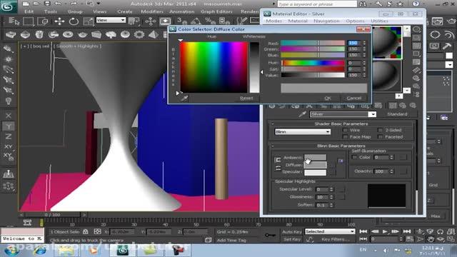 آموزش تری دی مکس (3D Max) - قسمت 30 - ساخت ماده کروم