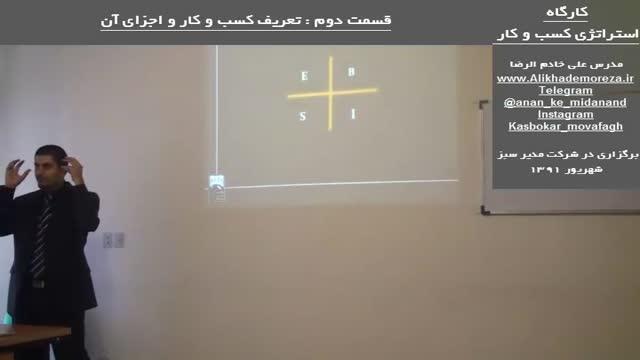 کارگاه آموزشی استراتژی راه اندازی و توسعه کسب و کار | علی خادم الرضا | قسمت دوم