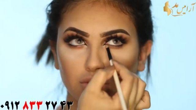 فیلم آموزش میکاپ برنزه + آرایش زیبا چشم و ابرو