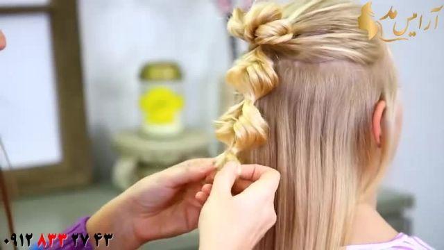 فیلم آموزش بافت مو دخترانه مدل آویز
