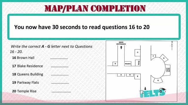 دانلود رایگان دوره کامل آموزش IELTS - لیسنینگ - سوالات نقشه ای (Map Completion)