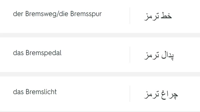 لغات تخصصی در گرفتن گواهینامه آلمانی2
