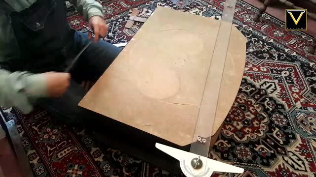 آماده سازی قطعات و نصب بیس پایه اره فارسی بر