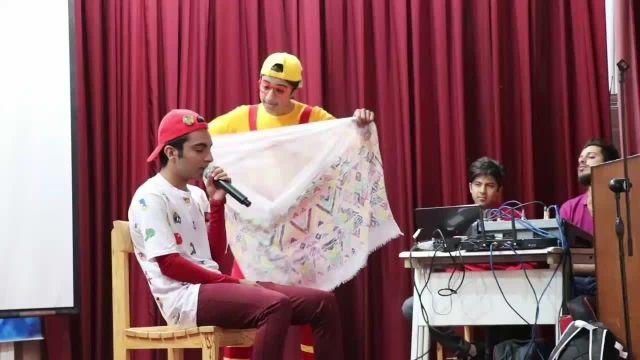 اجرای کودک درجمع دانش آموزان یزدی عموباراد