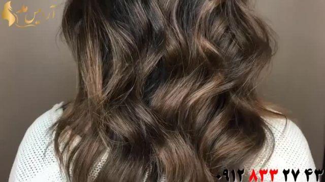 فیلم تکنیک های رنگ کردن مو + بالیاژ مو قهوه ای