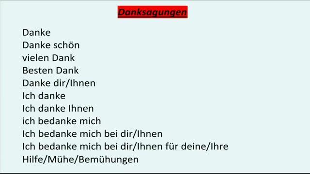 آموزش زبان آلمانی: تشکر کردن به آلمانی