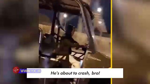رانندگی خطرناک چند پسر بچه در اتوبان