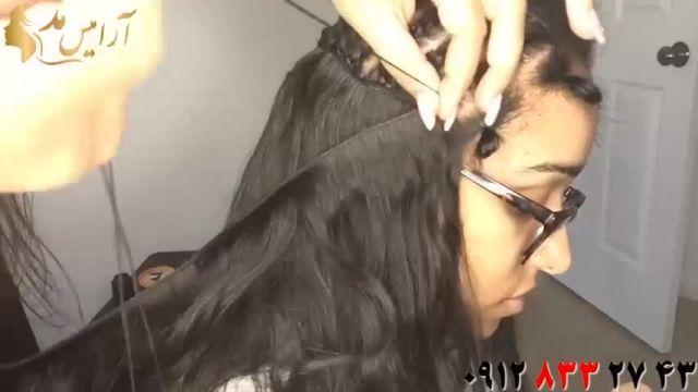 فیلم آموزش اکستنشن مو دوختی + بافت مو کف سر
