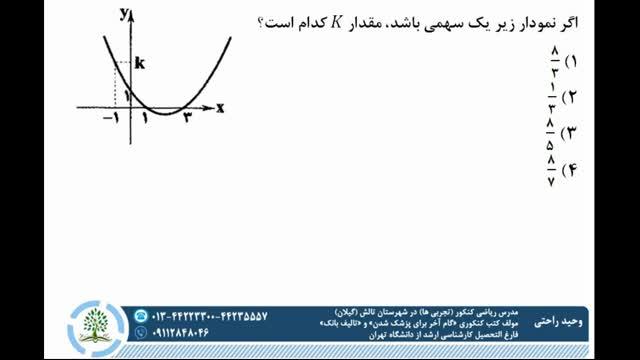 ریاضی یازدهم (نوشتن معادله سهمی)✏مدرس: مهندس راحتی