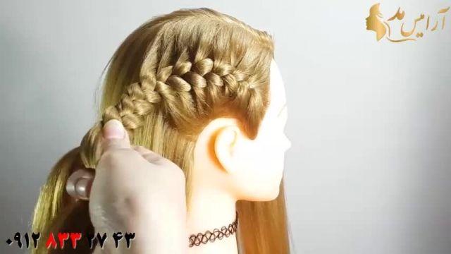 کلیپ آموزش بافت مو یکطرفه + مدل مو