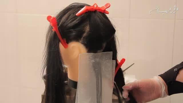 دکلره کردن مو در خانه