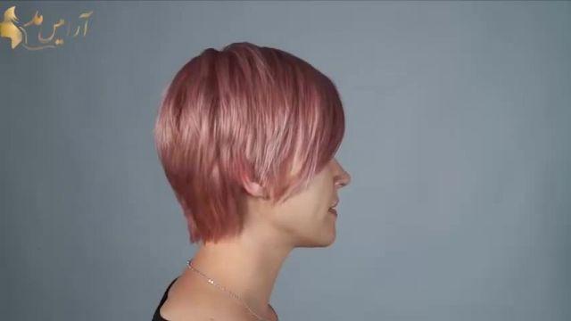 کلیپ آموزش دکلره و رنگ کردن مو + رنگ مو رزگلد