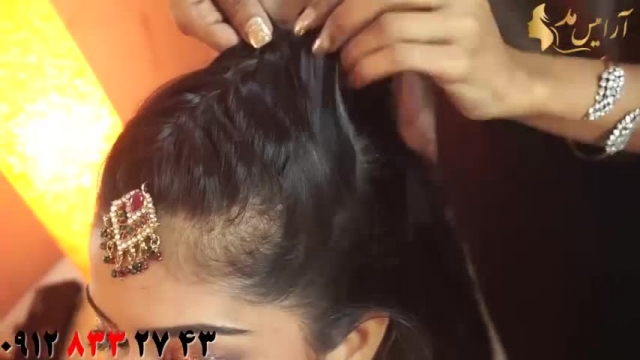 کلیپ آموزش دو مدل شینیون مو مدل هندی + شینیون کلاسیک مو