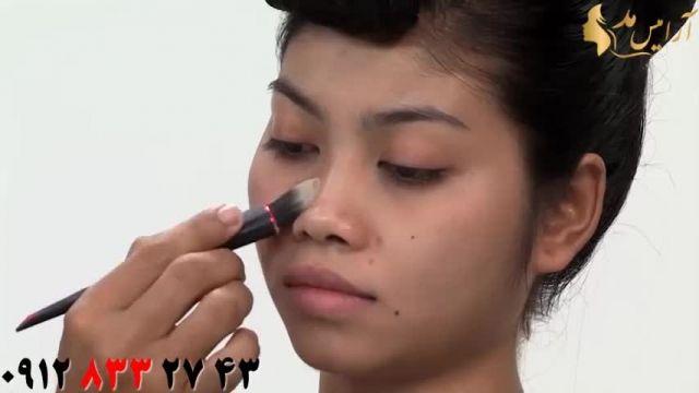 فیلم آموزش حرفه ای آرایش کامل صورت دخترانه