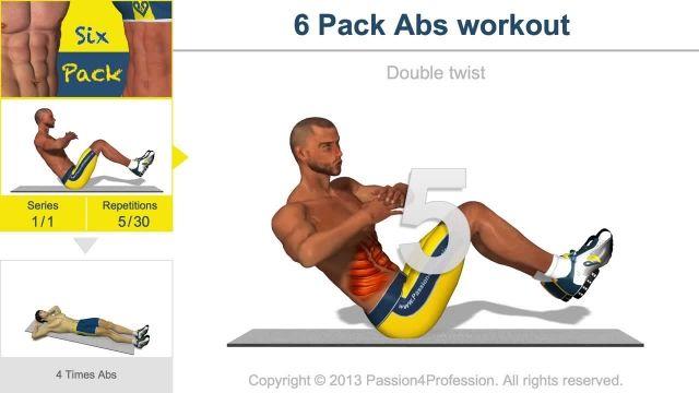 آموزش ویدئویی تمرینات عضلات شکم و سینه Abs | قسمت 14