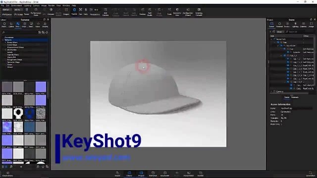 آموزش کی شات 9 – ویژگی های جدید keyshot 9 – ساخت متریال fuzz پرز و پارچه